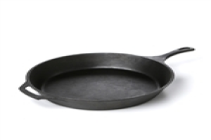 pre-seasoned cast iron 15-inch round skillet